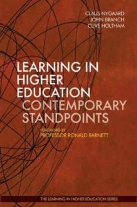 Learning in Higher Education - Contemporary Standpoints - Claus Nygaard - John Branch - Clive Holtham - Libri Publishing Ltd - Ronald Barnett - learning theory in higher education